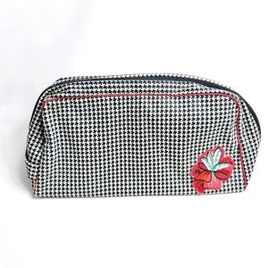 Christian Dior Vintage Houndstooth Cosmetic Bag
